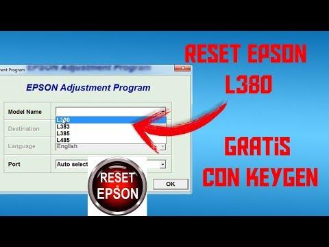 RESET EPSON L380 GRATUITO Y CON KEYGEN