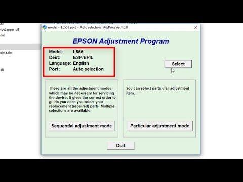 RESET EPSON L555 – ERROR DE ALMOHADILLAS (SOLUCIÓN)