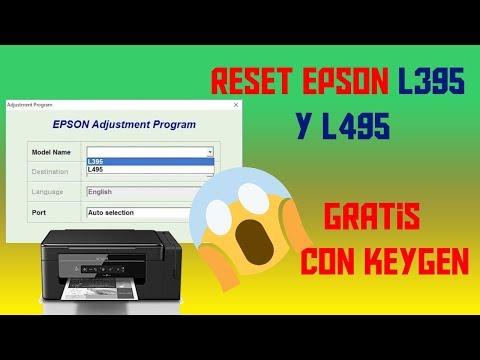 RESET EPSON L395  Y L495 GRATIS