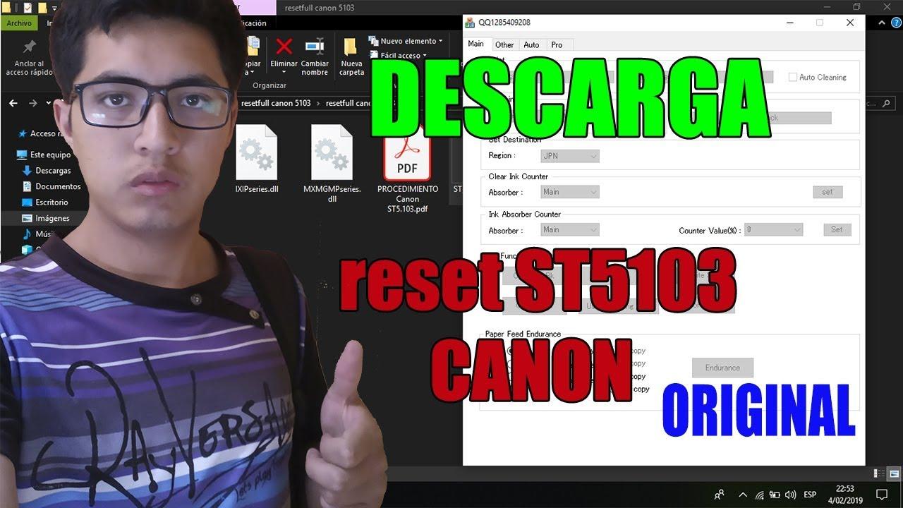 RESET CANON ST5103 con keygen – ELIMINA EL ERROR 5B00
