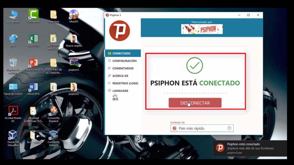 psiphon conectar