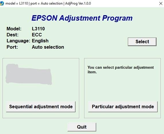RESET EPSON L3110 CON KEYGEN