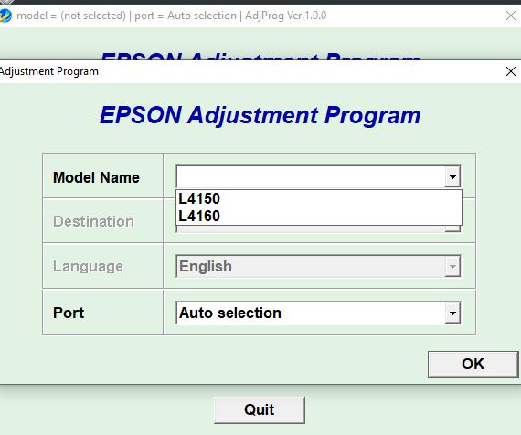 RESET EPSON L4150 – L4160 con Keygen