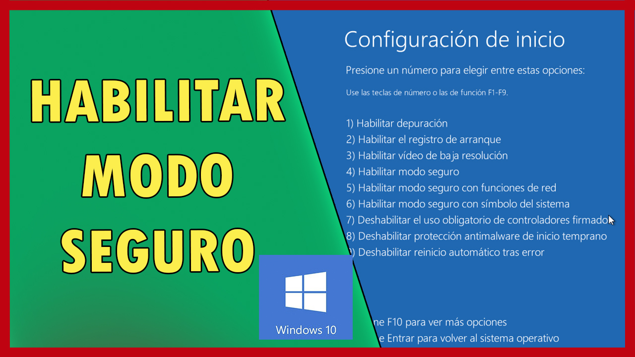INGRESAR A MODO SEGURO EN WINDOWS 10