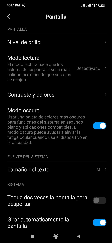 Activa el MODO OSCURO en tu Xiaomi