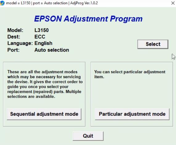 RESET EPSON L3150 CON KEYGEN