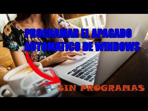 CÓMO PROGRAMAR EL APAGADO DE WINDOWS CON CMD