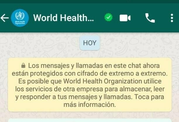 OMS: Preguntale tus Dudas sobre el COVID-19 vía WhatsApp