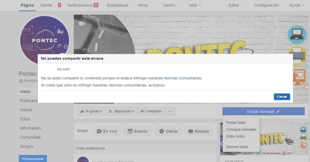 Desbloquear URL de tu sitio web bloqueado por Facebook