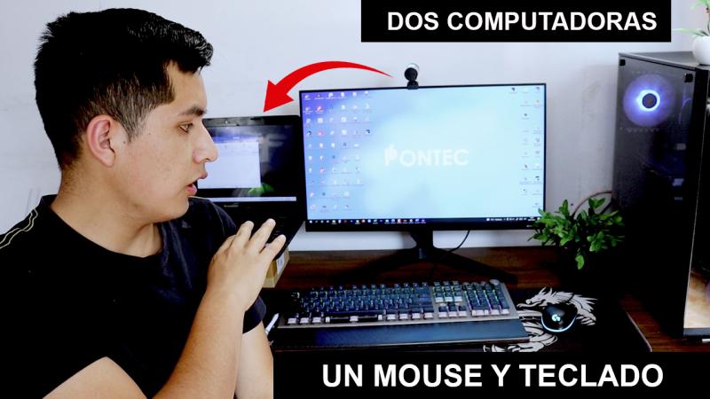 Cómo conectar dos computadoras al mismo teclado y mouse
